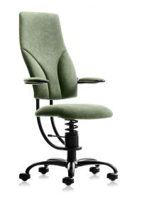 Pisarniški stol Apollo zelen alcantara